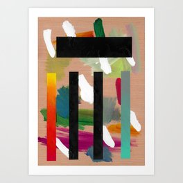 Untitled (Abstract Composition 2017018) Art Print