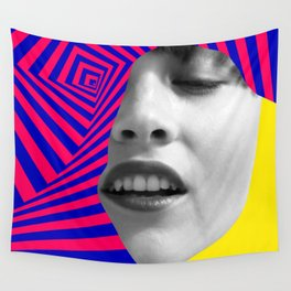 Optical Portrait Wall Tapestry