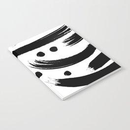 Black & White Paint Strokes Pattern Notebook