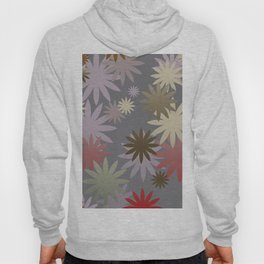 Abstract Flowers Design Hoody