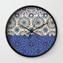 Islamic Geometry Faux Mosaic Wall Clock