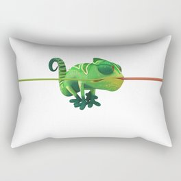 Run Cricket Run - Crazy Chameleon Rectangular Pillow