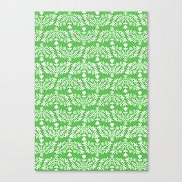 Folk Pattern Green Canvas Print