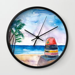 Key West Florida USA Southernmost Point of The USA Wall Clock