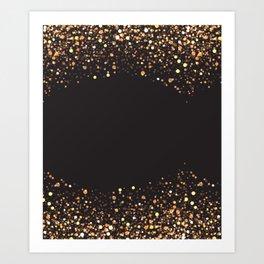 Black and gold #society6 Art Print