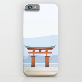Floating torii, Itsukushina Shrine, Japan iPhone Case