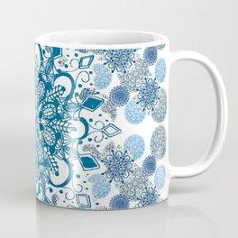 Blue Rhapsody Patterned Mandalas Coffee Mug