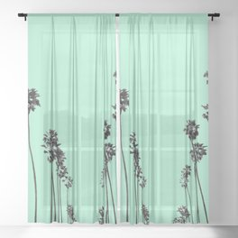 Palm Trees 9 Sheer Curtain