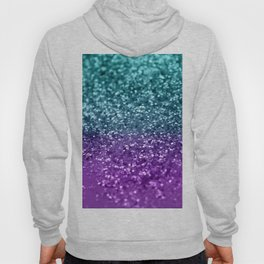 Purple Teal MERMAID Girls Glitter #1 #shiny #decor #art #society6 Hoody