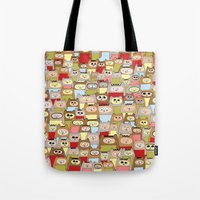 bears Tote Bags featuring bears! by Asja Boros