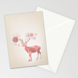 Flower deer Stationery Cards
