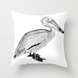 Artistic Falcon Bird Throw Pillow
