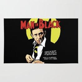 Man in Black Rug