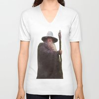 gandalf V-neck T-shirts featuring gandalf the grey by alexflee