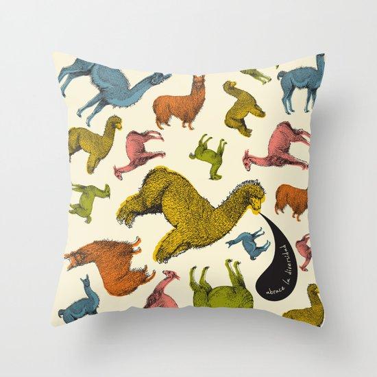 camelids Throw Pillow