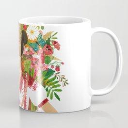 Folk Flower Girl Coffee Mug