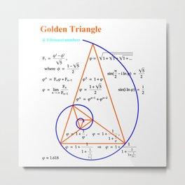Golden Triangle & Fibonacci Numbers Metal Print