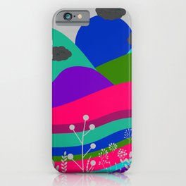 Jewel Tone Landscape iPhone Case