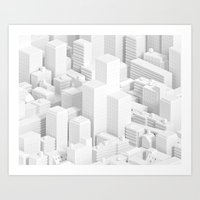 metropolis Art Prints featuring metropolis by parisian samurai studio