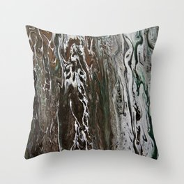 In the southern hemisphere moss grows on the south side of the tree Throw Pillow