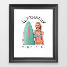 Tenenbaum Surf Club Framed Art Print