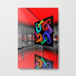picture of an exhibition Metal Print