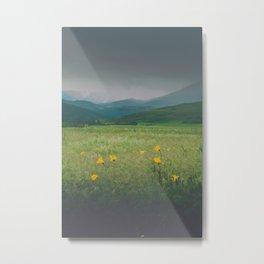 Wild Flowers Grow in Wild Places Metal Print
