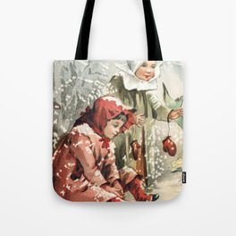 Hark What mean those holy voices (1887) by L Prang  Co Tote Bag