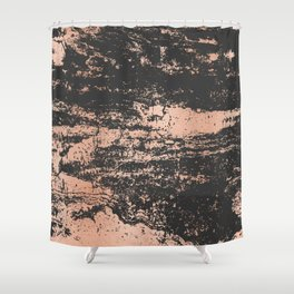 Marble Black Rose Gold - Dope Shower Curtain