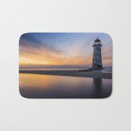 Sunset At The Lighthouse V2 Bath Mat