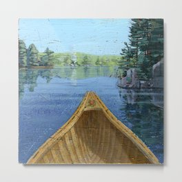 canoe bow Metal Print