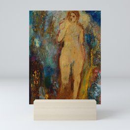 "Odilon Redon ""The Wheel of Fortune; La-Roue-de-la-Fortune"" Mini Art Print"