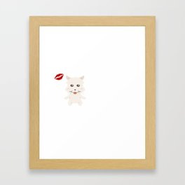 I Kissed A Westie And I Liked It Cute Dog Kiss Gift Idea Framed Art Print