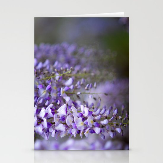 Wisteria on a rainy spring day Stationery Cards