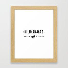 Kilimanjaro Framed Art Print