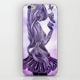 Purple Swirl iPhone Skin