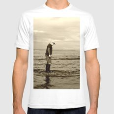 A Boy and The Sea MEDIUM White Mens Fitted Tee