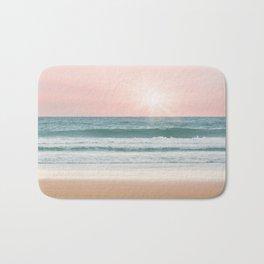 Pink pastel ocean #sunset Bath Mat