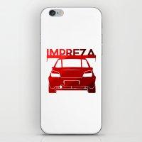 subaru iPhone & iPod Skins featuring Subaru Impreza - classic red - by Vehicle