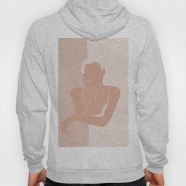 Minimal illustration of a Woman Hoody