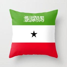 Somaliland flag emblem Throw Pillow
