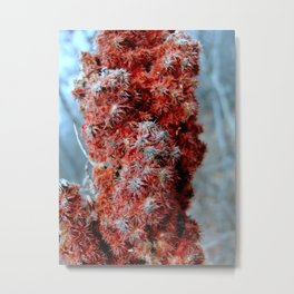 Burning Metal Print