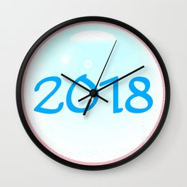 2018 Christmas And New Year Wall Clock