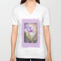 iris V-neck T-shirts featuring Iris by Kimberley Britt