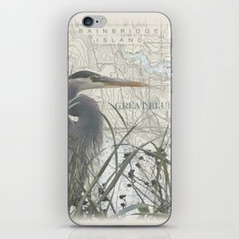 Heron blanket iPhone Skin