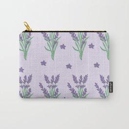 Purple Violet Lavender Flower Petal Plant Nature Leaves Carry-All Pouch