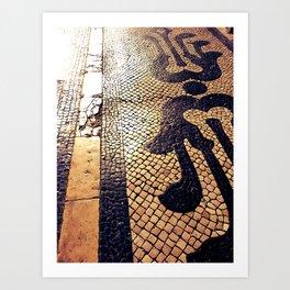 Lisbon's pavement Art Print