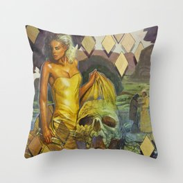 The Water Drove Her Crazy Throw Pillow