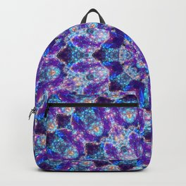 Luminous Crystal Flower Mandala Backpack