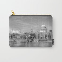 St Pauls Cathedral and the Millenium Bridge London Carry-All Pouch